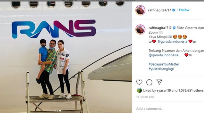 Rans entertainment, rafii ahmad, garuda indonesia